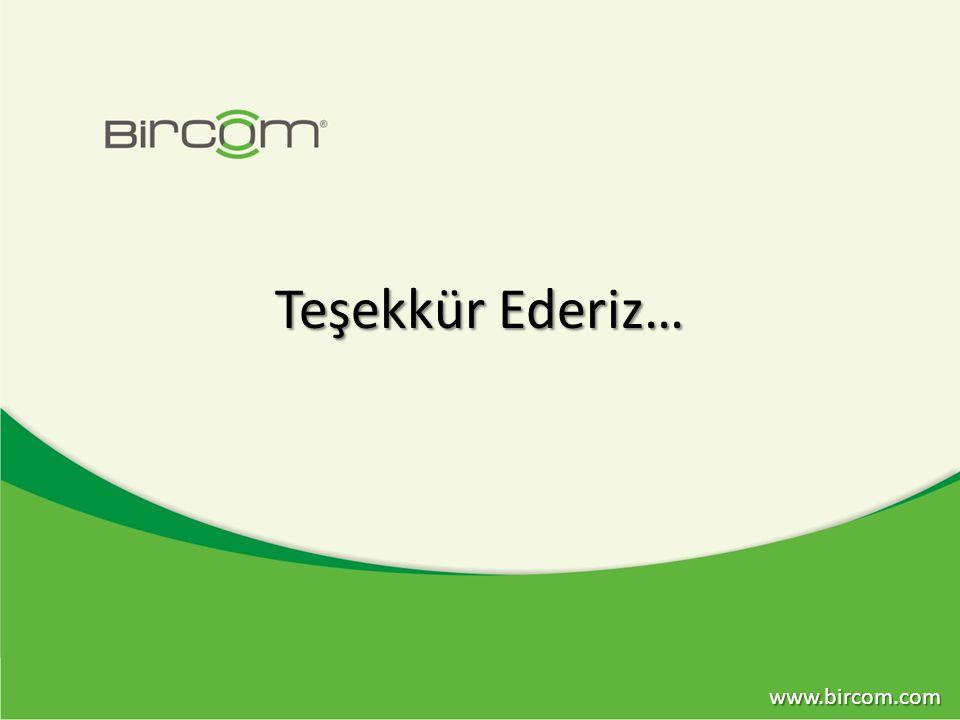Teşekkür Ederiz… www.bircom.com