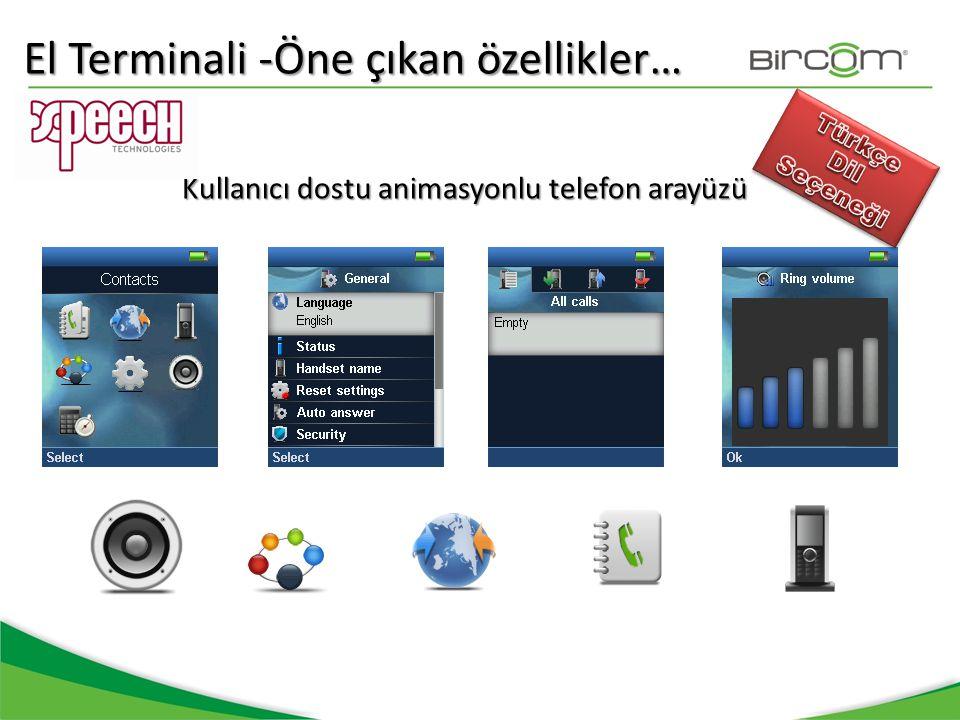 Kullanıcı dostu animasyonlu telefon arayüzü El Terminali -Öne çıkan özellikler…