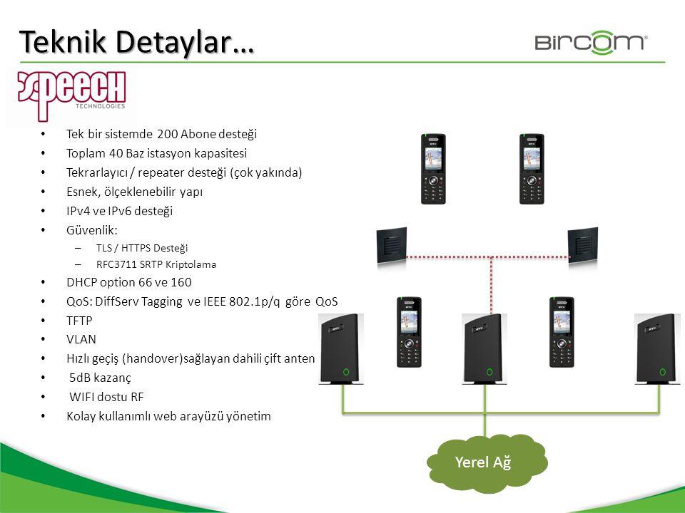Teknik Detaylar… • Tek bir sistemde 200 Abone desteği • Toplam 40 Baz istasyon kapasitesi • Tekrarlayıcı / repeater desteği (çok yakında) • Esnek, ölç