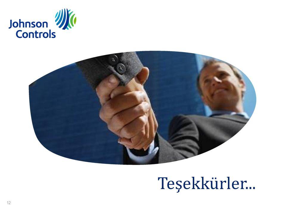 12 Johnson Controls Etkin Yapı Sistemleri Onur KOCA 09 Aralık 2009 KIBRIS Teşekkürler... 12