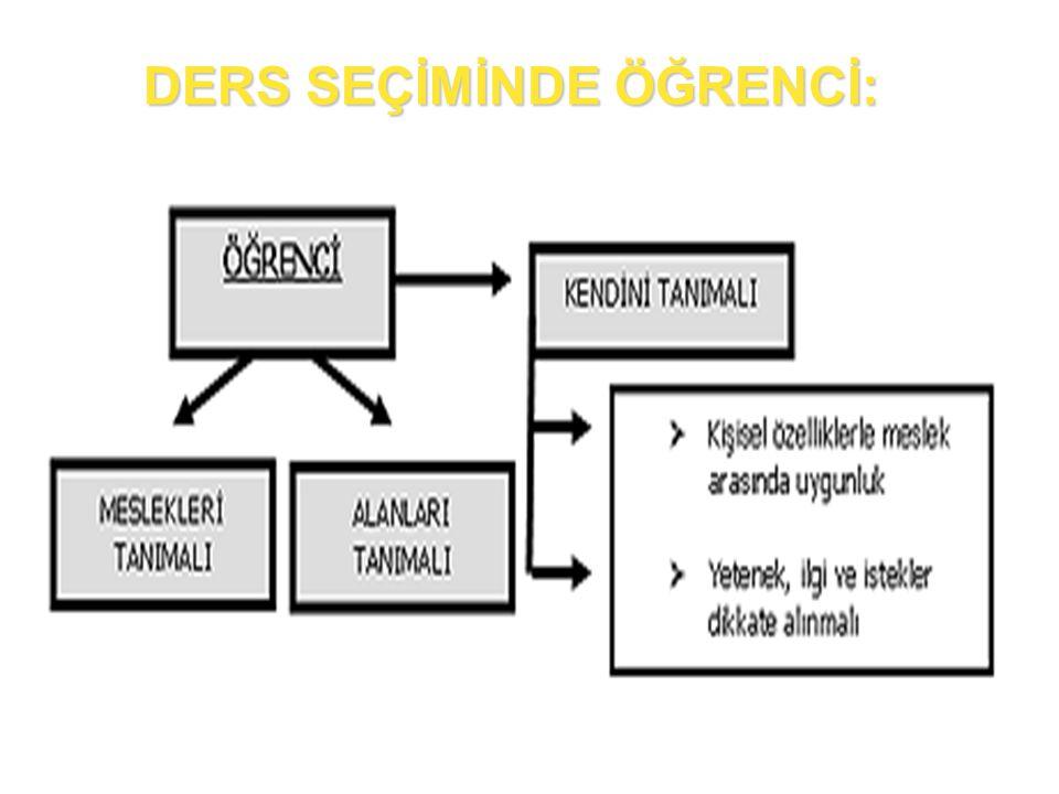 DERS VE MESLEK SEÇİMİ 2012-2013