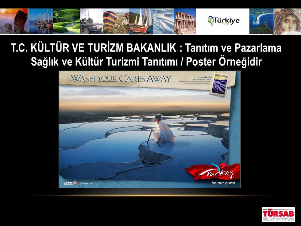 T.C. KÜLTÜR VE TURİZM BAKANLIK : Tanıtım ve Pazarlama Sağlık ve Kültür Turizmi Tanıtımı / Poster Örneğidir