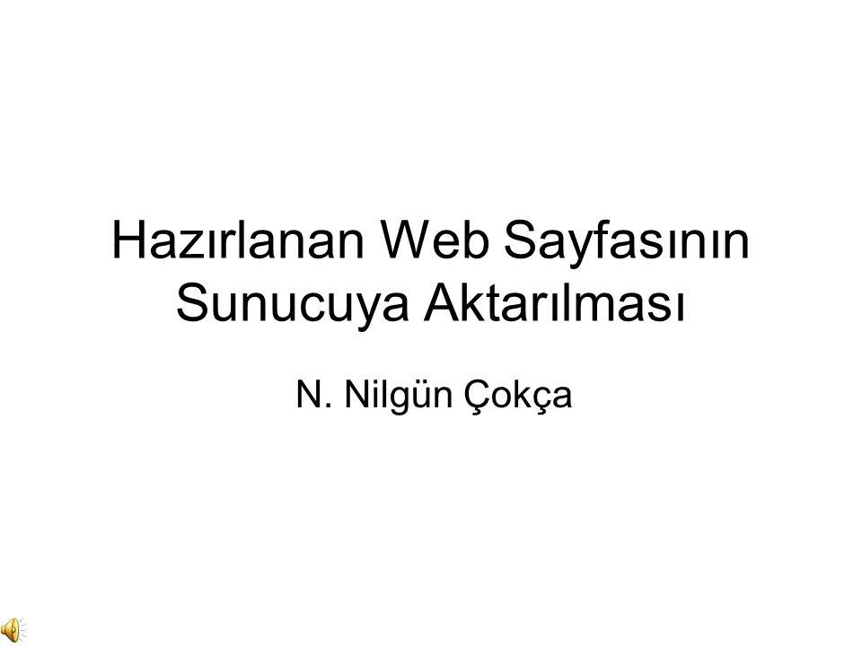 Hazırlanan Web Sayfasının Sunucuya Aktarılması N. Nilgün Çokça