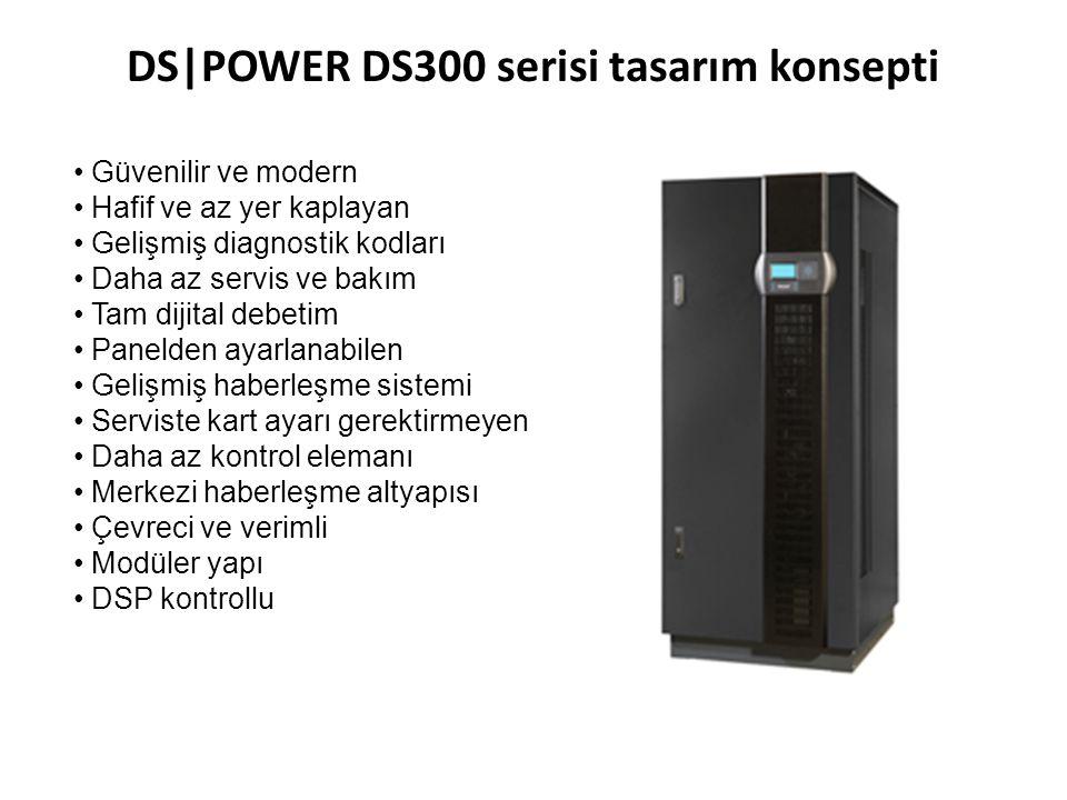 DS|POWER DS300 serisi tasarım konsepti • Güvenilir ve modern • Hafif ve az yer kaplayan • Gelişmiş diagnostik kodları • Daha az servis ve bakım • Tam