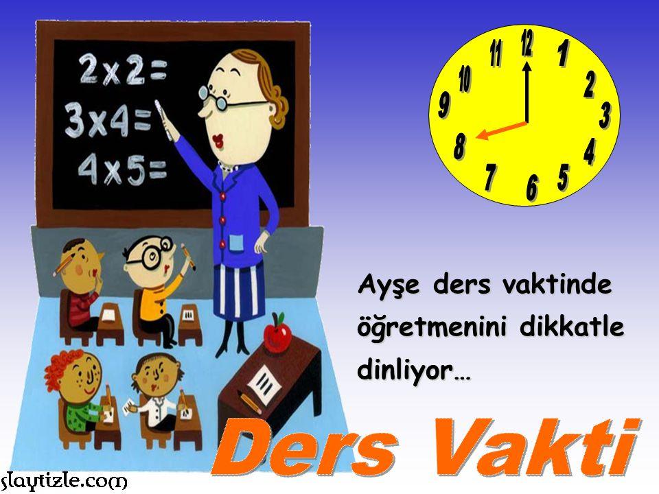 Zamanın önemini bilen Ayşe, okul servisine tam zamanında yetişiyor. Arkadaşlarını bekletmiyor!