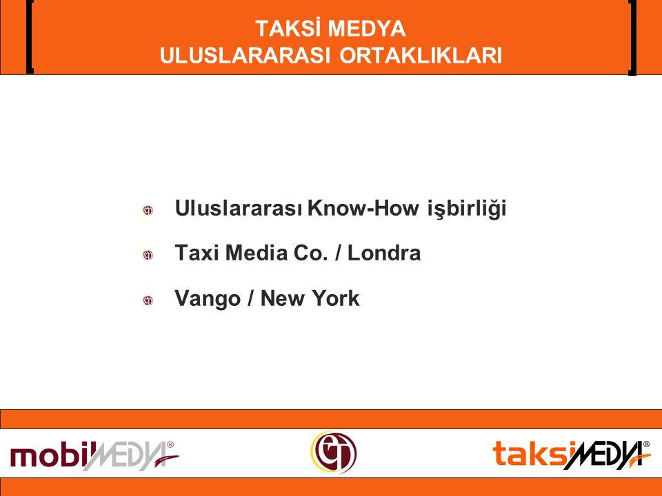 TAKSİ MEDYA ULUSLARARASI ORTAKLIKLARI Uluslararası Know-How işbirliği Taxi Media Co.