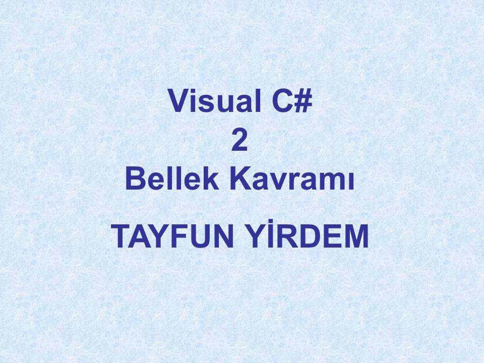 Visual C# 2 Bellek Kavramı TAYFUN YİRDEM