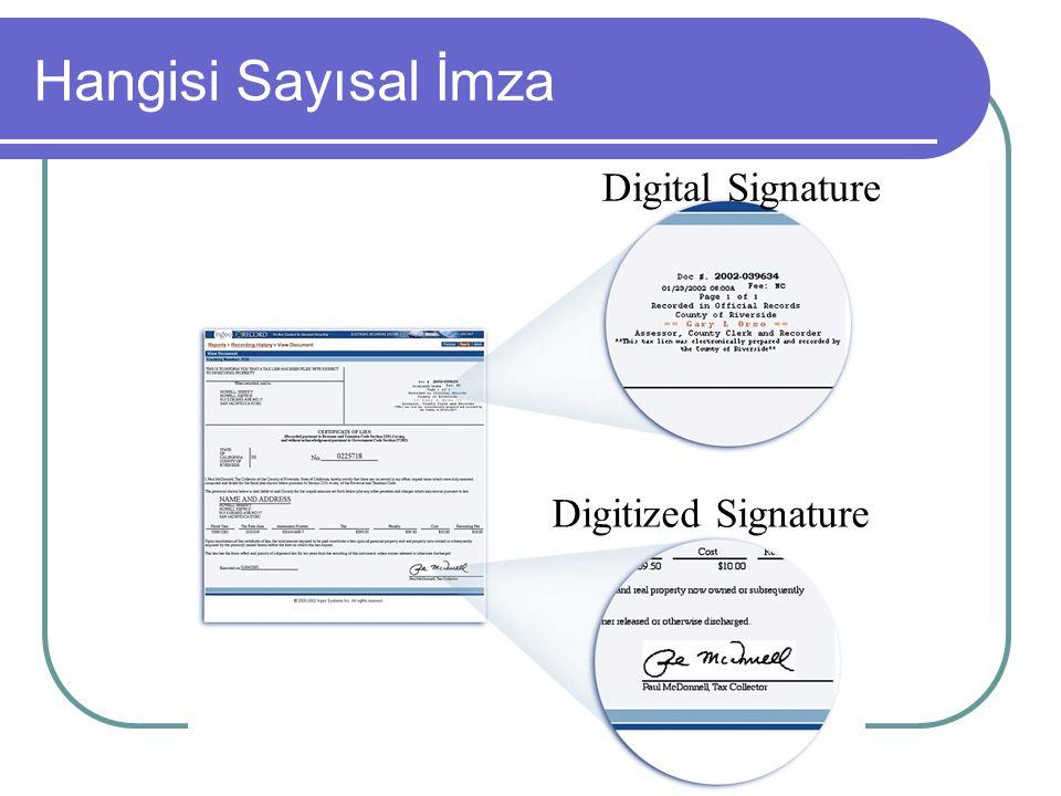 Digital Signature Digitized Signature Hangisi Sayısal İmza