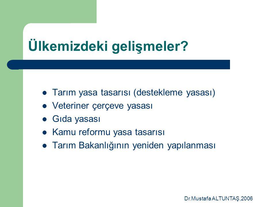 Dr.Mustafa ALTUNTAŞ,2006 Resmi Veteriner Hekim (Official veterinarian)  Yetkili Merkezi Veteriner Otoritesi (CVO)  Merkez ve taşra birimleri olan ve