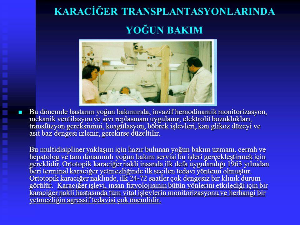KARACİĞER TRANSPLANTASYONU SONRASINDA ENFEKSİYONLAR  Karaciğer transplantasyonu sonrasındaki enfeksiyonlar bu hastalarda cerrahi komplikasyonlar ve rejeksiyona (red) bağlı organ kayıpları dışında en önemli mortalite nedenidir.
