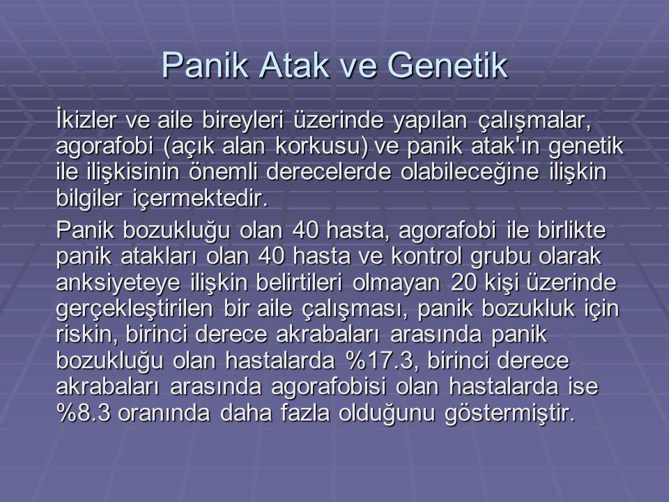 Panik Atak ve Anksiyete Panik Atak ve Anksiyete Toplumda görülme oranı %3 olup, hayat boyu rastlanabilme oranı % 5 civarında saptanabilmiştir.
