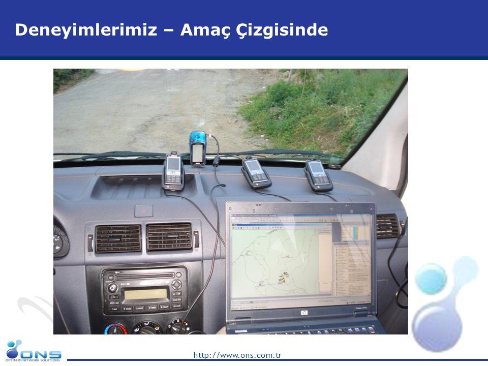 http://www.ons.com.tr Deneyimlerimiz – Mevcut Network Değerlendirmesi •Turkcell swap projesinde ve Motorola VF projesinde, bütün bölgelerin t0 testleri yapıldı ve network'un mevcut performansı şekillerle gösterilerek teslimatı yapıldı.