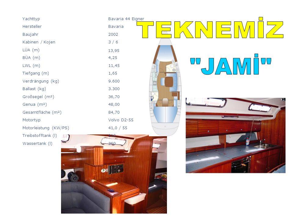 360Wassertank (l) 210Treibstofftank (l) 41,0 / 55Motorleistung (KW/PS) Volvo D2-55Motortyp 84,70Gesamtfläche (m²) 48,00Genua (m²) 36,70Großsegel (m²)