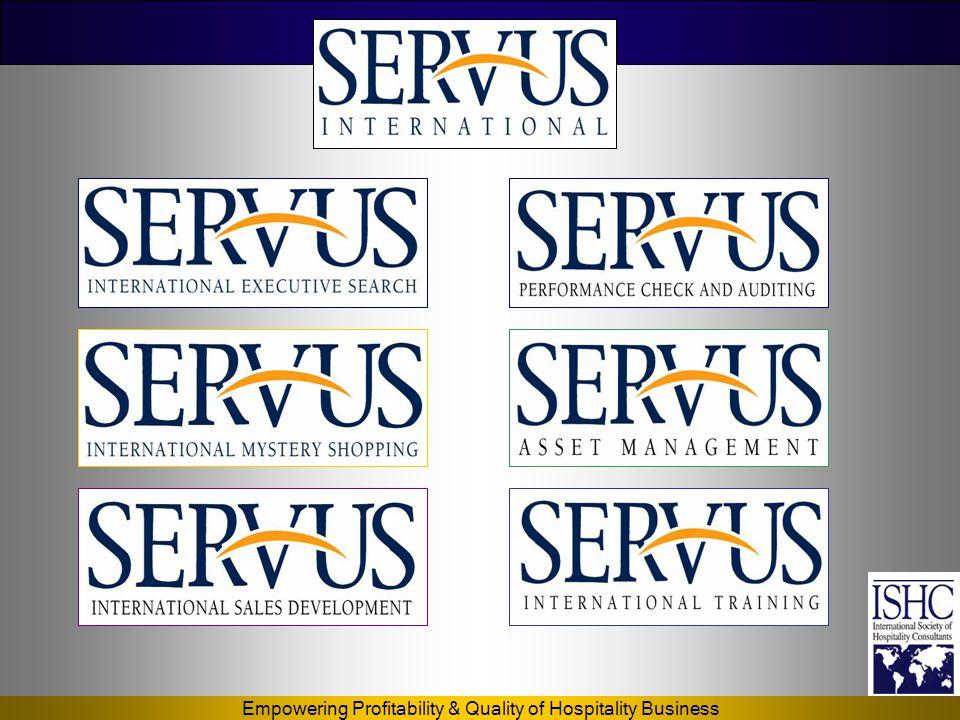 Empowering Profitability & Quality of Hospitality Business KALYON HOTEL-İSTANBUL Kalyon Hotel İstanbul •SERVUS'un sağladığı hizmetler: •Yönetim Danışmanlığı •Eğitim •Kariyer Planlama •E-Strateji (Website tasarım ve kurulum, ) ve E-CRM •Bütün Satış ve Pazarlama Çalışmalarının Koordinasyonu.