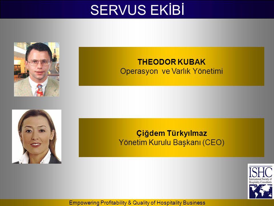 Empowering Profitability & Quality of Hospitality Business SERVUS EKİBİ THEODOR KUBAK Operasyon ve Varlık Yönetimi Çiğdem Türkyılmaz Yönetim Kurulu Ba