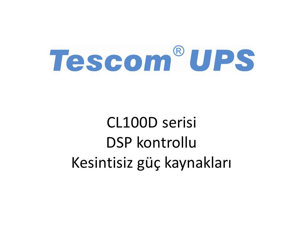 CL100D serisi DSP kontrollu Kesintisiz güç kaynakları