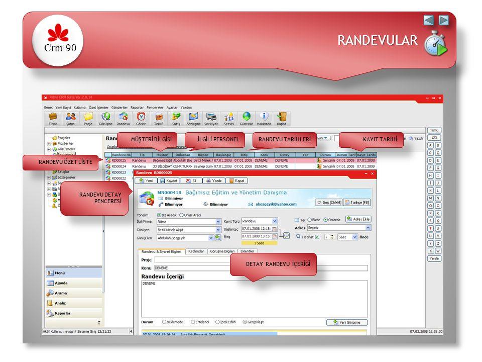 Personel bazında teklif dağılımı Bekleyen, Ertelenen, Kabul Edilen, İptal edilen, Revize tekliflerin gösterimi Teklif sürecinde yapılan görüşmeler Fiyat Listeleri ile Ürün ve Hizmetleri çift tıklama ile teklife atabilme Kurum içi teklif onay süreci Sınırsız döviz kuruna göre hesaplama Hazır teklif şablonları, kurumsal teklif şablonu kullanabilme Teklifi Word, Excel, PDF formatına dönüştürebilme Ertelenen Teklif Takibi Önceki tekliflere göre fiyat kontrolleri Hızlı teklif kopyalama - yapıştırma Detaylı yetki kontrolleri ( teklifi silme, değiştirme, onaylama vb.