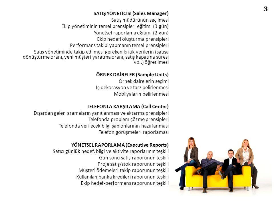 SATIŞ YÖNETİCİSİ (Sales Manager) Satış müdürünün seçilmesi Ekip yönetiminin temel prensipleri eğitimi (3 gün) Yönetsel raporlama eğitimi (2 gün) Ekip