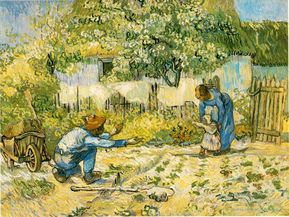 Pankreasın Nöroendokrin Tümörleri 49 Van Gogh First Steps (after Millet) 1890 (250 Kb); Oil on canvas, 72.4 x 91.2 cm (28 1/2 x 35 7/8 in); The Metrop