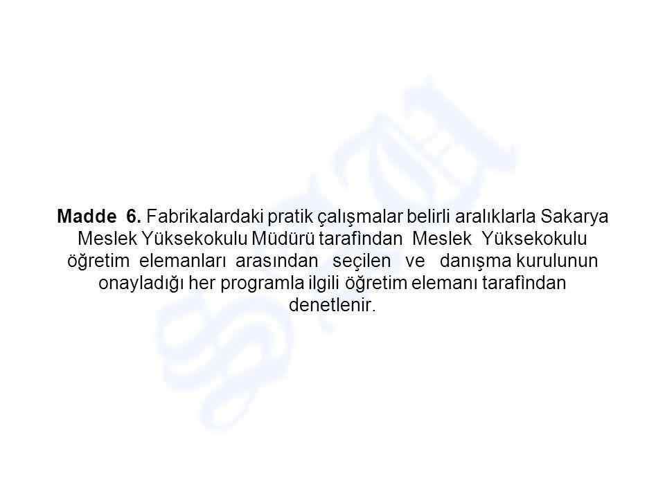 PROGRAM İLE İLGİLİ HÜKÜMLER Madde 4.