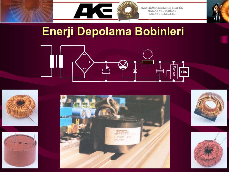 Enerji Depolama Bobinleri + - ~ ~ + Sensor YÜK