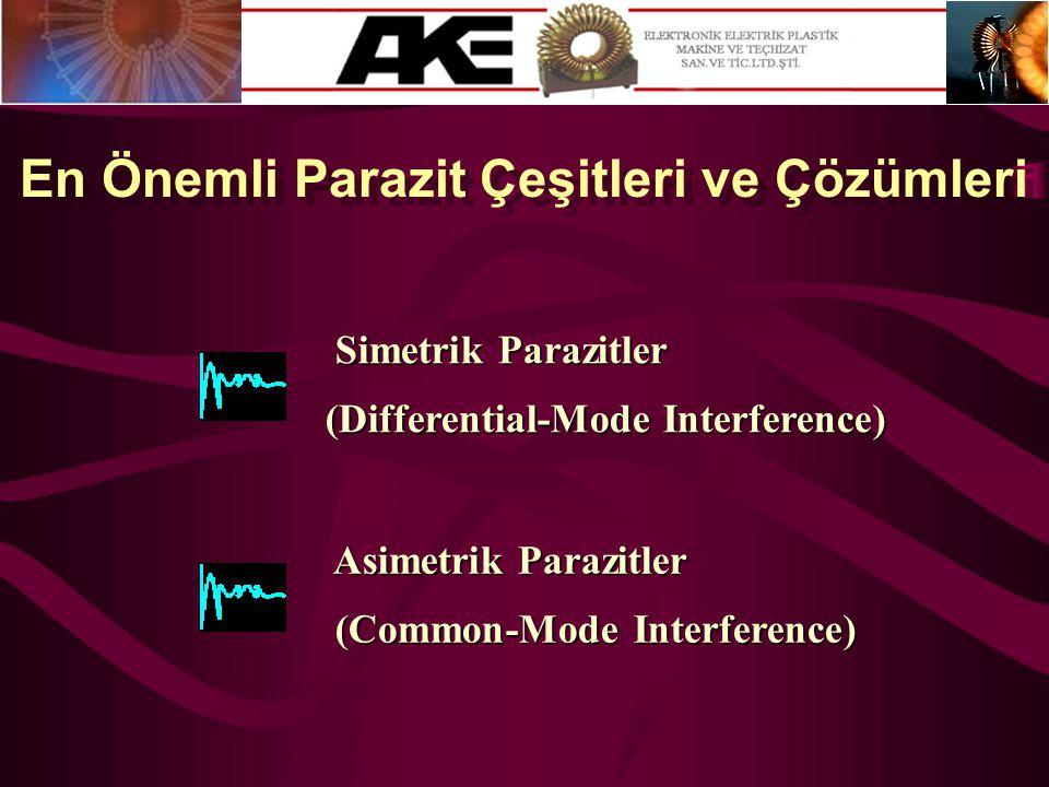 En Önemli Parazit Çeşitleri ve Çözümleri Simetrik Parazitler Simetrik Parazitler (Differential-Mode Interference) Asimetrik Parazitler Asimetrik Paraz