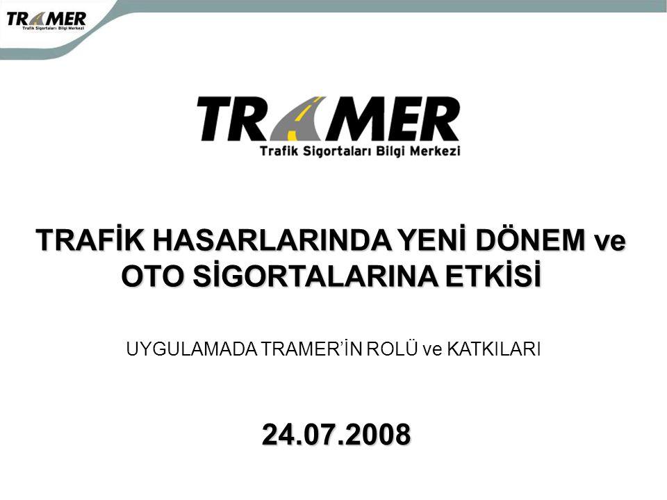TRAFİK HASARLARINDA YENİ DÖNEM ve OTO SİGORTALARINA ETKİSİ 24.07.2008 UYGULAMADA TRAMER'İN ROLÜ ve KATKILARI