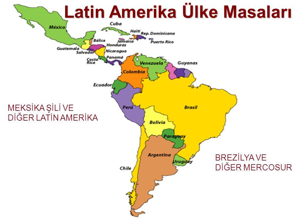 Latin Amerika Ülke Masaları BREZİLYA VE DİĞER MERCOSUR MEKSİKA ŞİLİ VE DİĞER LATİN AMERİKA