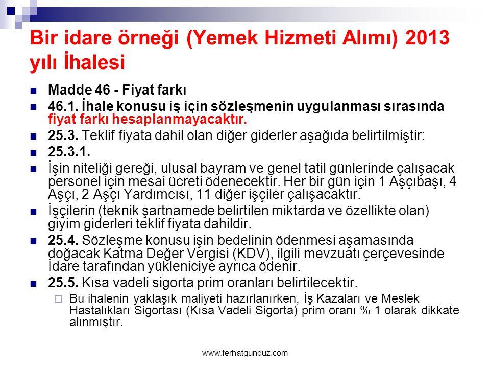 4735 sayılı Kamu İhale Sözleşmeleri Kanunu 87 www.ferhatgunduz.com