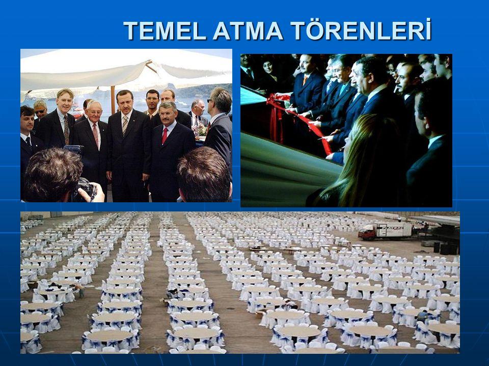 TEMEL ATMA TÖRENLERİ TEMEL ATMA TÖRENLERİ