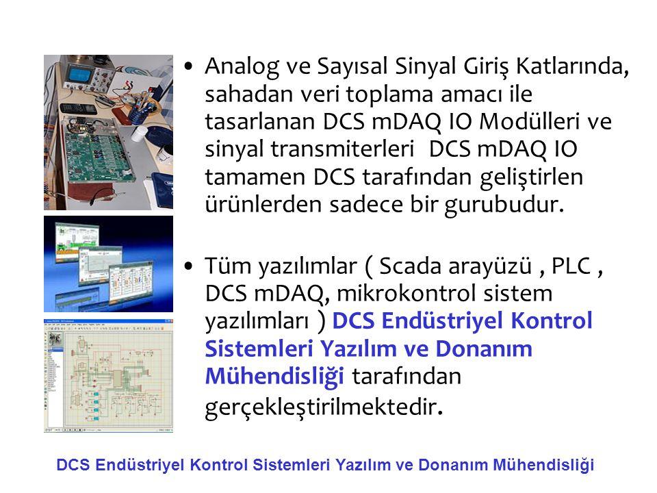 •Analog ve Sayısal Sinyal Giriş Katlarında, sahadan veri toplama amacı ile tasarlanan DCS mDAQ IO Modülleri ve sinyal transmiterleri DCS mDAQ IO tamam