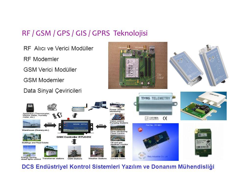 DCS Endüstriyel Kontrol Sistemleri Yazılım ve Donanım Mühendisliği RF Alıcı ve Verici Modüller RF Modemler GSM Verici Modüller GSM Modemler Data Sinya