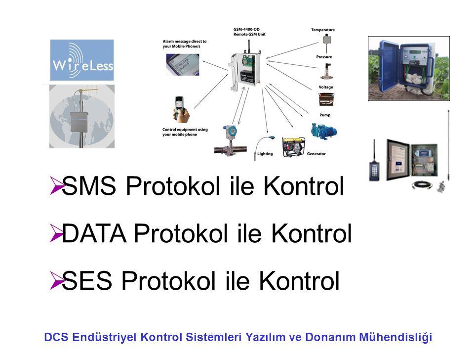  SMS Protokol ile Kontrol  DATA Protokol ile Kontrol  SES Protokol ile Kontrol