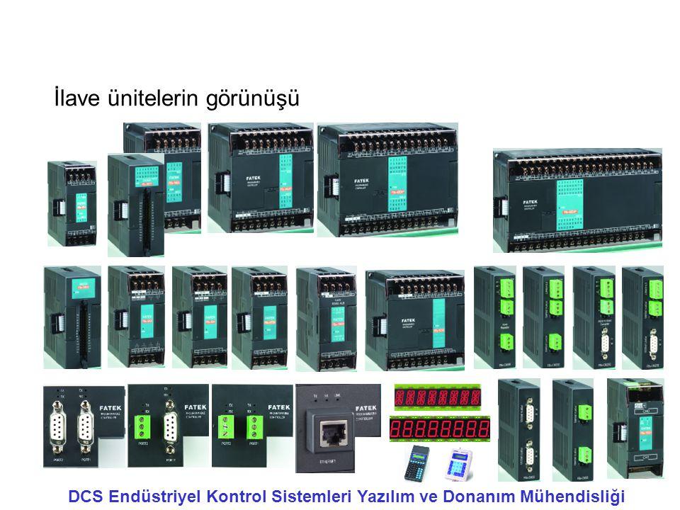 İlave ünitelerin görünüşü DCS Endüstriyel Kontrol Sistemleri Yazılım ve Donanım Mühendisliği
