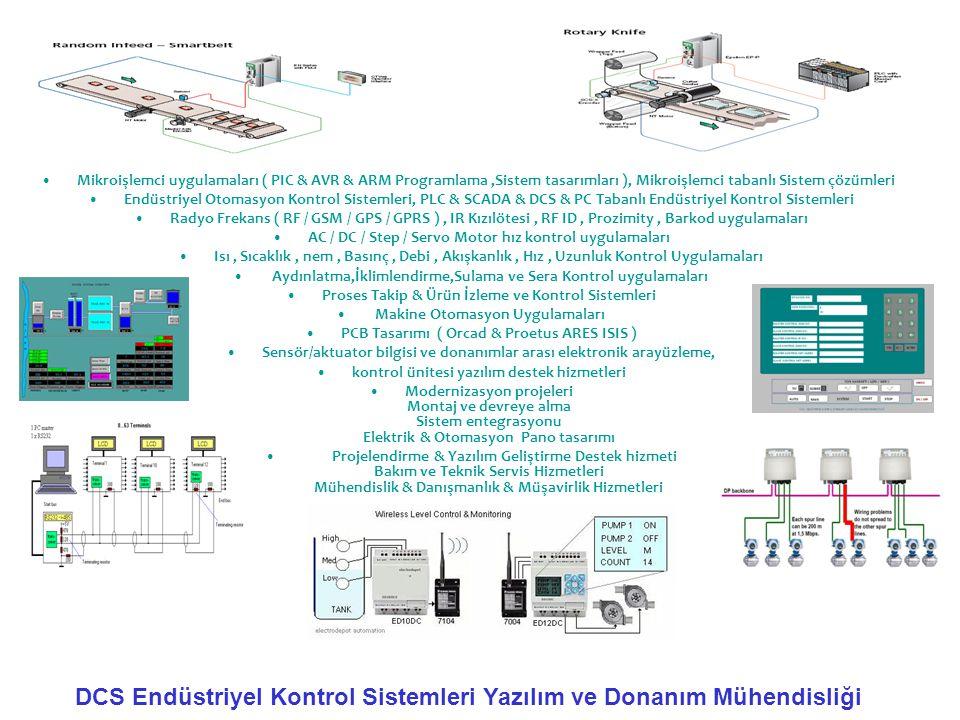 •Mikroişlemci uygulamaları ( PIC & AVR & ARM Programlama,Sistem tasarımları ), Mikroişlemci tabanlı Sistem çözümleri •Endüstriyel Otomasyon Kontrol Si