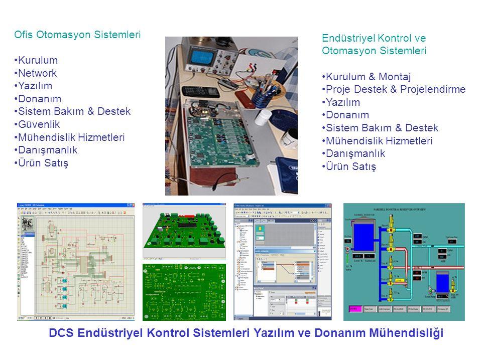 Ofis Otomasyon Sistemleri •Kurulum •Network •Yazılım •Donanım •Sistem Bakım & Destek •Güvenlik •Mühendislik Hizmetleri •Danışmanlık •Ürün Satış Endüst