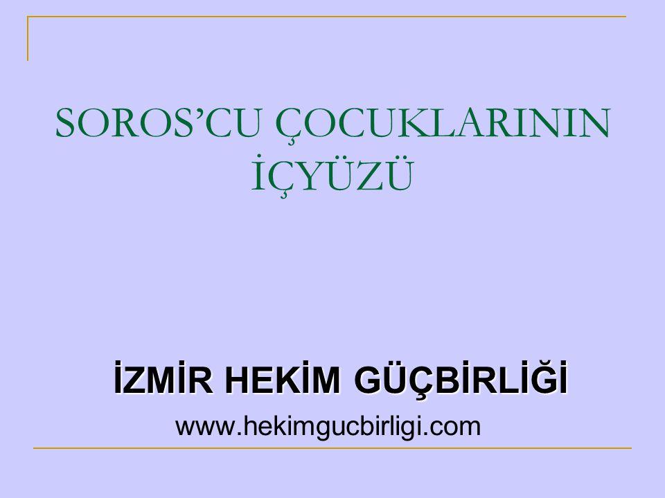 SOROS'UN AÇIK TOPLUM ENSTİTÜSÜ  Eylül 2001'den bu yana Türkiye'de faaliyette  Soros'un Türkiye'ye ayırdığı para, şimdilik 5 Milyon Dolar  Soros'un Türkiye'ye ilgisi Aralık 1999'daki Helsinki Zirvesi ile başladı