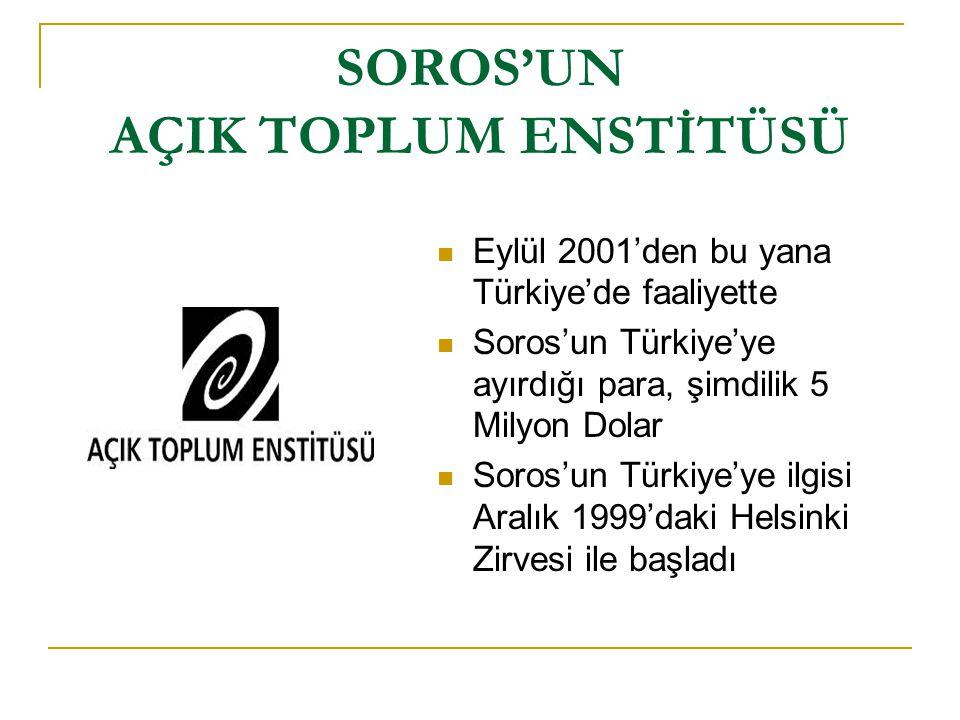 TAYYİP ERDOĞAN'DAN İTİRAF  Erdoğan, 2003 yılında Davos Zirvesi sırasında Soros'a Türkiye'nin açık toplumcuları biziz dedi.