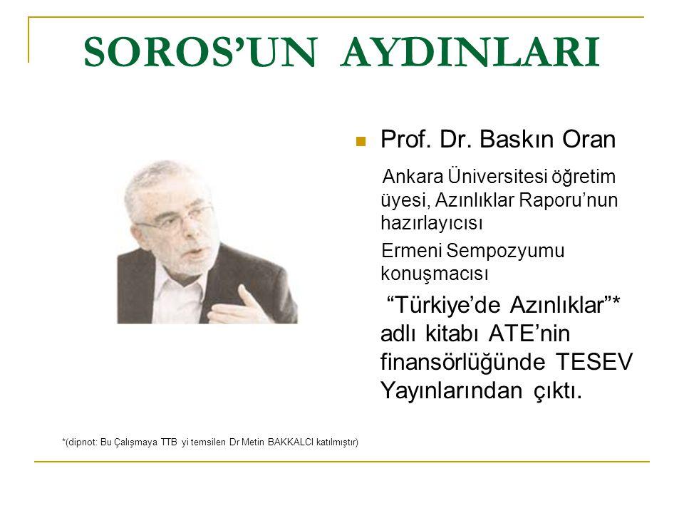 SOROS'UN AYDINLARINDAN SOYKIRIM YALANLARI  Prof.
