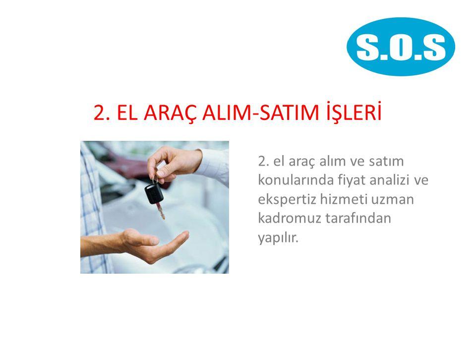 2.EL ARAÇ ALIM-SATIM İŞLERİ 2.