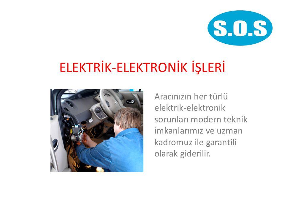 ELEKTRİK-ELEKTRONİK İŞLERİ Aracınızın her türlü elektrik-elektronik sorunları modern teknik imkanlarımız ve uzman kadromuz ile garantili olarak giderilir.