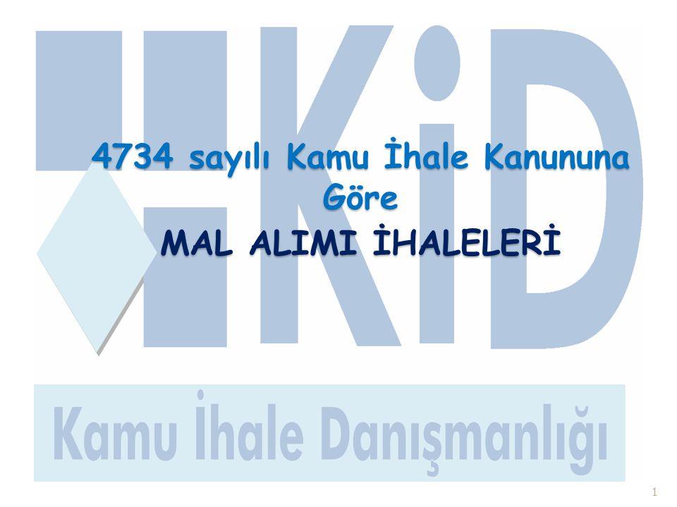 4734 sayılı Kamu İhale Kanununa Göre MAL ALIMI İHALELERİ 1
