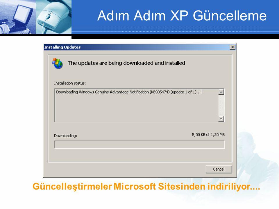 Adım Adım XP Güncelleme Güncelleştirmeler Microsoft Sitesinden indiriliyor....