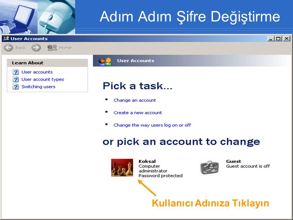 Antivirüs Programı Güncelleme 1.Mcafee ikonuna sağ klik 2.Update Now 3.Close Şifreler MCAFEE Viruscan Antivirüs Programı Güncelleme