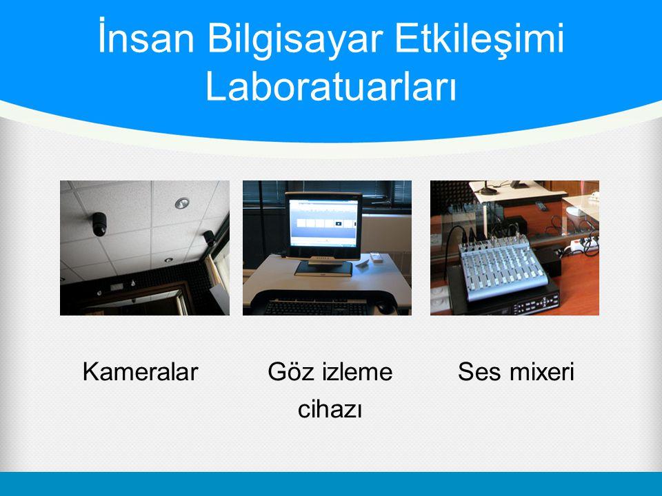 İnsan Bilgisayar Etkileşimi Laboratuarları KameralarGöz izleme cihazı Ses mixeri