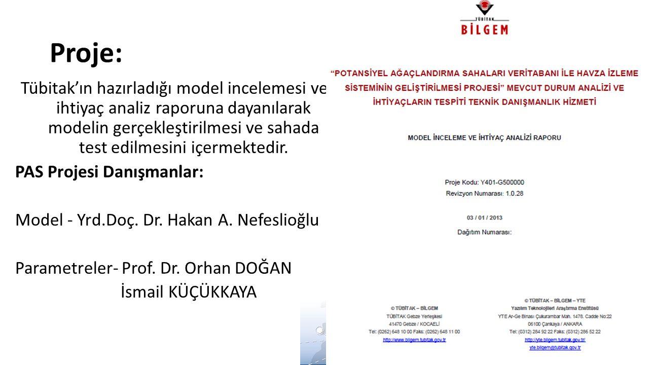 Proje: Tübitak'ın hazırladığı model incelemesi ve ihtiyaç analiz raporuna dayanılarak modelin gerçekleştirilmesi ve sahada test edilmesini içermektedi