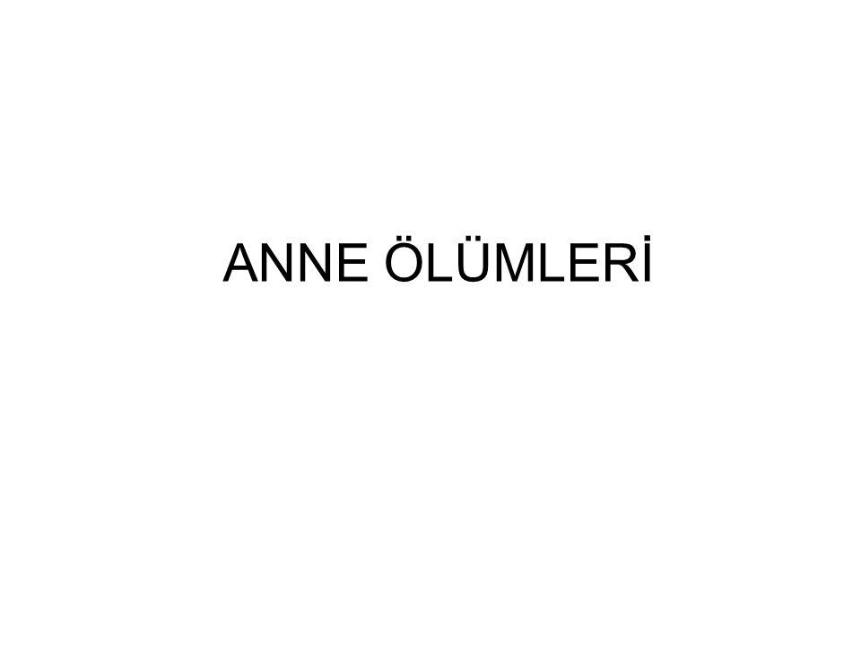 ANNE ÖLÜMLERİ