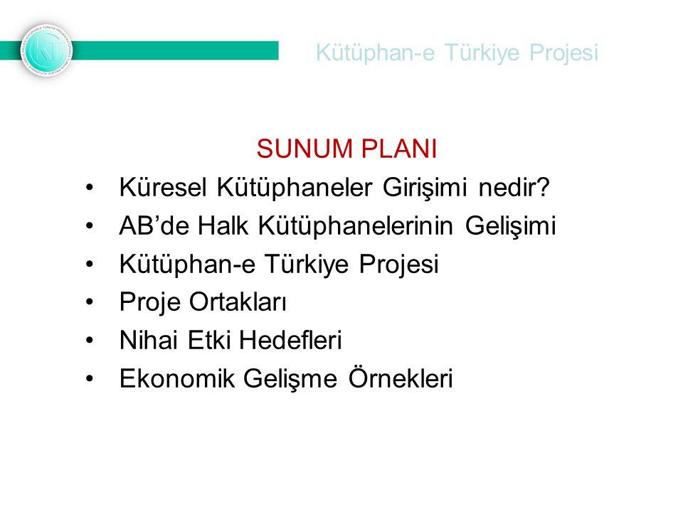 Kütüphan-e Türkiye Projesi SUNUM PLANI •Küresel Kütüphaneler Girişimi nedir? •AB'de Halk Kütüphanelerinin Gelişimi •Kütüphan-e Türkiye Projesi •Proje