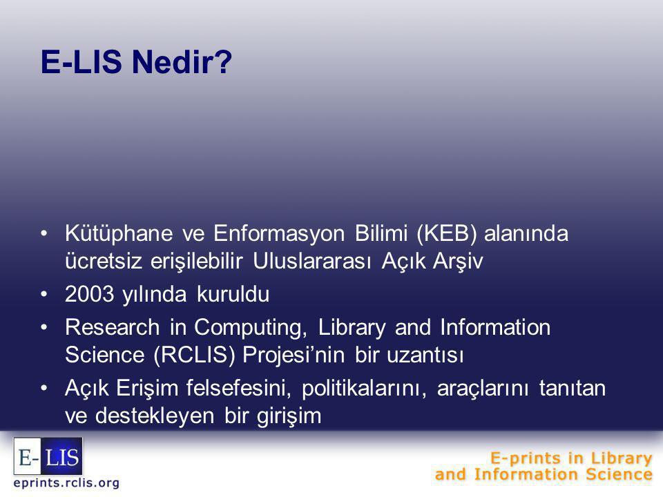 E-LIS Nedir.