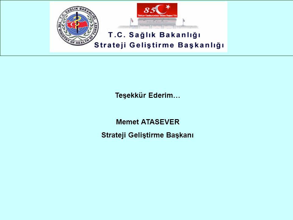 Teşekkür Ederim… Memet ATASEVER Strateji Geliştirme Başkanı